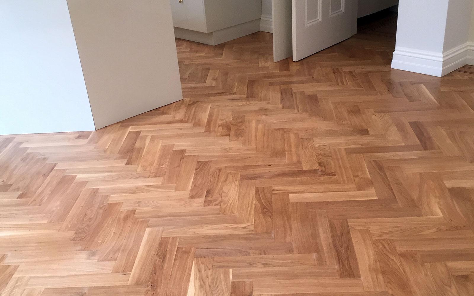 Parquet Floor Restoration - Kitchen